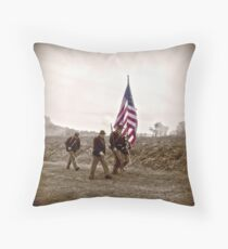 Civil War Soldiers Throw Pillow