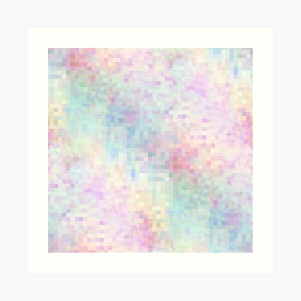 Abstract Flower Field in Pastels Art Print