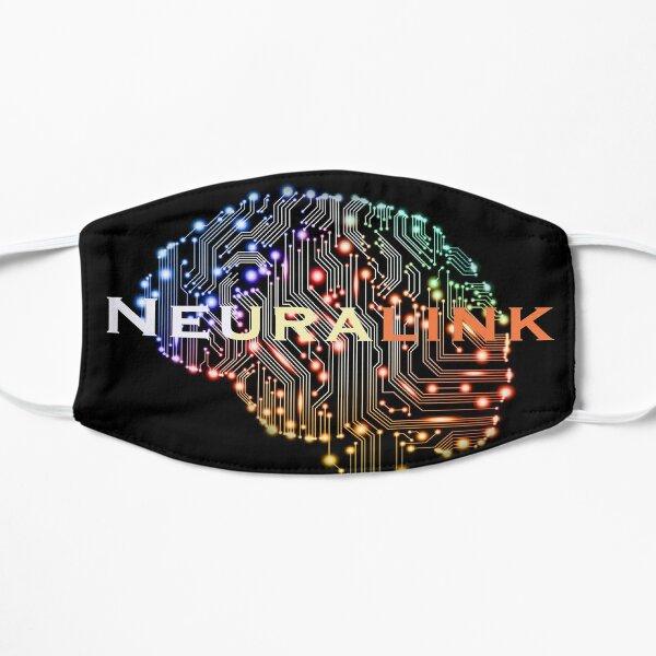 Neuralink amazing new tech design Flat Mask