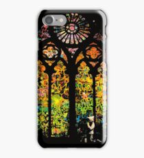 Banksy Stained Glass Window iPhone Case/Skin