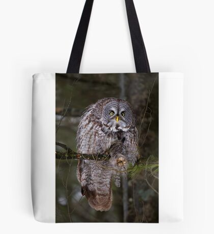 Silence! I keel you! - Great Grey owl Tote Bag
