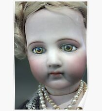 Vintage Collectable Doll with Pearl Necklace Photograph  Poster