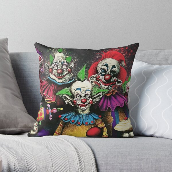 Killer Klowns From Outer Space Throw Pillow