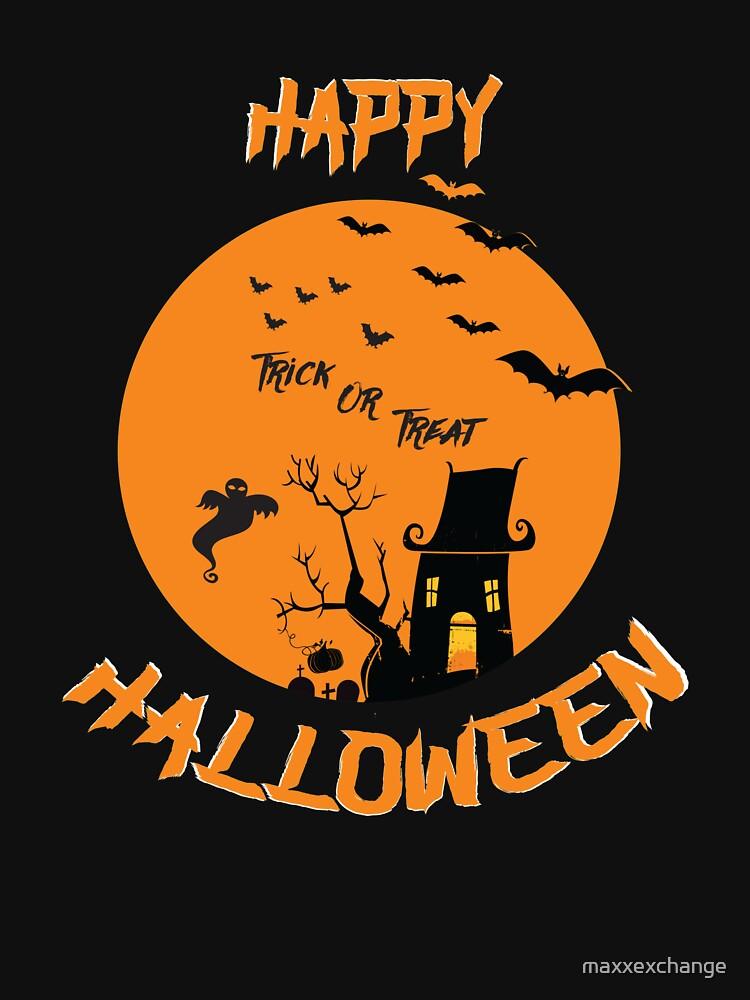 Haunted House Ghost Bat Trick Treat Gravestone RIP. by maxxexchange