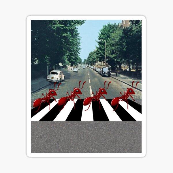 Ants Marching Down Abbey Road Sticker