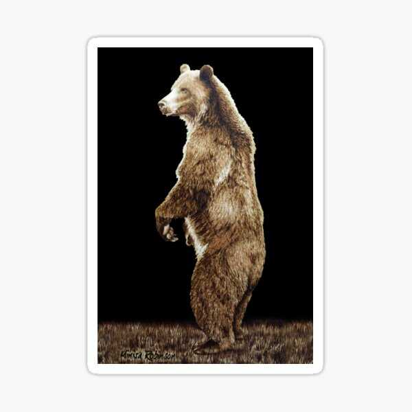 Grizzly Bear by Minisa Robinson Sticker
