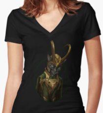 Lokitty Women's Fitted V-Neck T-Shirt