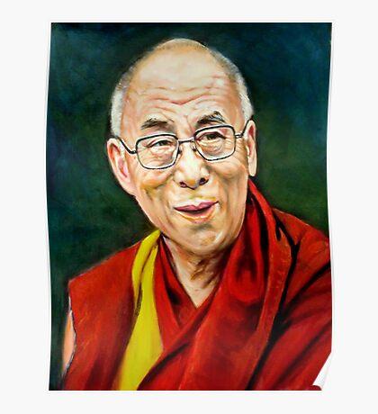 portrait of 14th Dalai Lama Poster