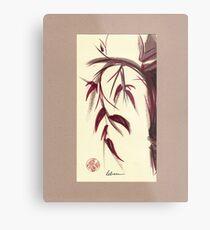 MUSE - Original Zen Ink Wash Sumi-e Asian Bamboo Painting Metal Print