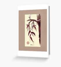 MUSE - Original Zen Ink Wash Sumi-e Asian Bamboo Painting Greeting Card