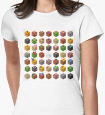 Mine Cubes Isometric Womens Fitted T-Shirt
