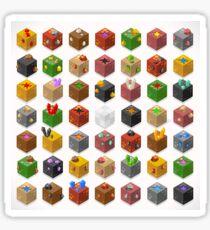 Mine Cubes Isometric Sticker