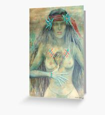 western art prints on canvas Greeting Card
