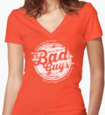 Lets be Bad Guys Women's Fitted V-Neck T-Shirt