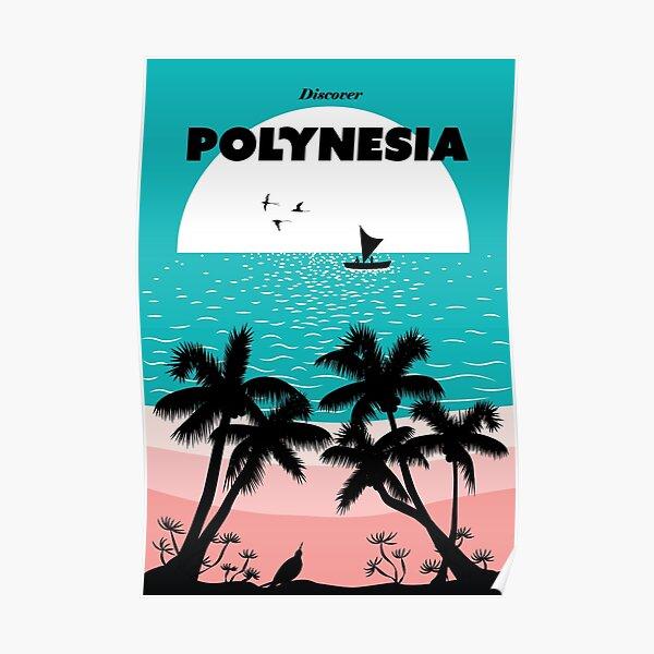 Polynesia retro travel poster Poster