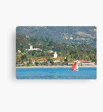 Christmas in Paradise - Santa Barbara California Canvas Print