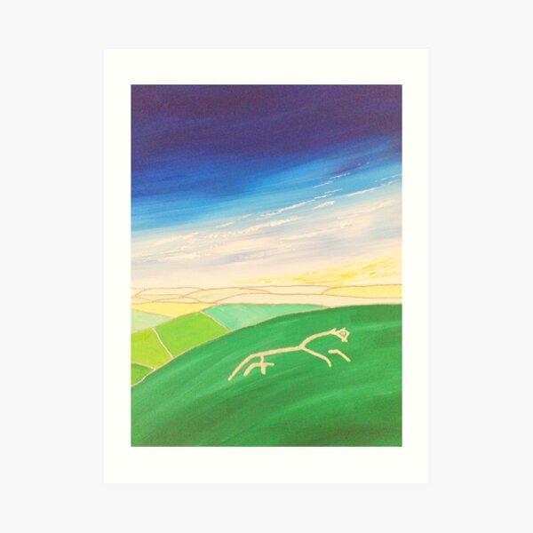 The White Horse at Uffington, England Art Print