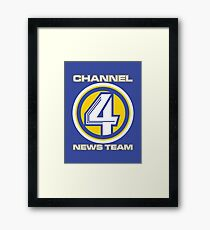 Channel 4 News Team (ANCHORMAN) Framed Print