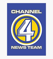 Channel 4 News Team (ANCHORMAN) Photographic Print