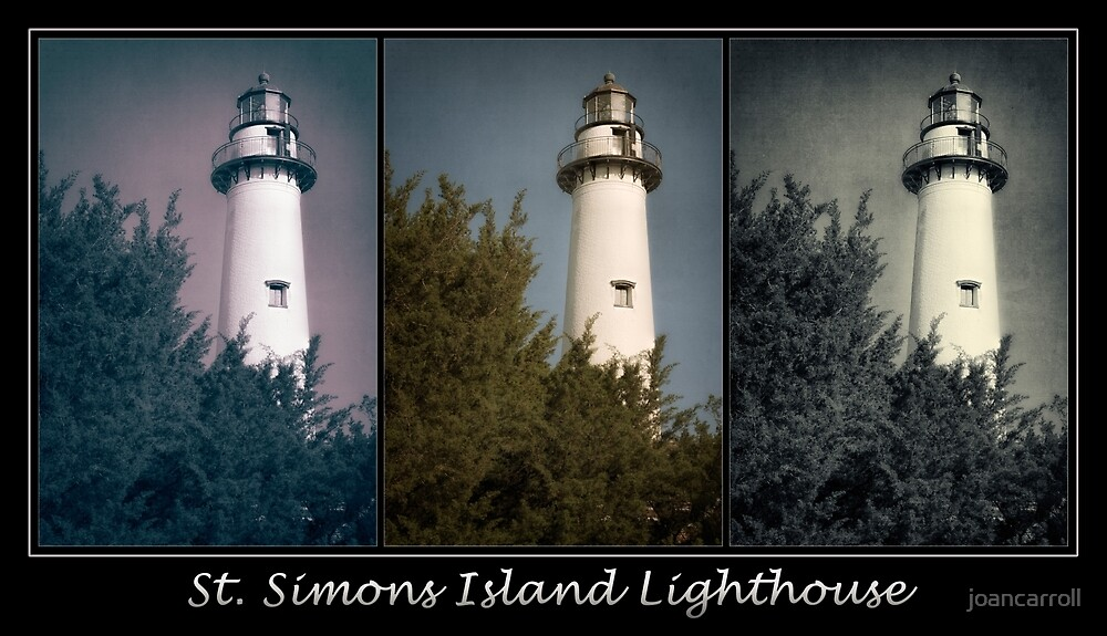 St Simons Island Lighthouse Poster by joancarroll