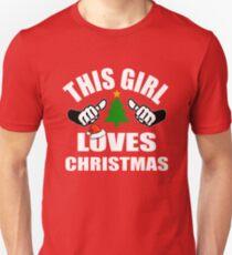 This Girl Loves Christmas Unisex T-Shirt
