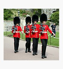 Soldiers Marching Photographic Print