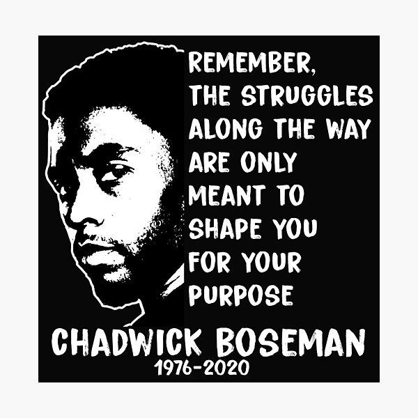 Rest In Peace Chadwick Boseman Photographic Print