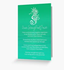 Affirmation - Inner Strength and Power Greeting Card