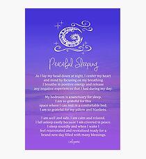 Affirmation - Peaceful Sleeping Photographic Print