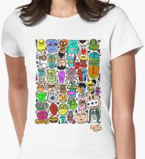 CRAZY DOODLE 2 Women's Fitted T-Shirt