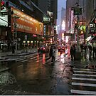 Times Square in Rain by steeber