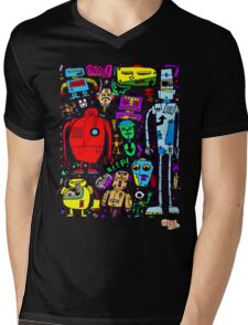 CRAZY DOODLE 3 Mens V-Neck T-Shirt