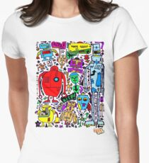 CRAZY DOODLE 3 Women's Fitted T-Shirt