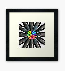 Black Colorful Pencils Framed Print