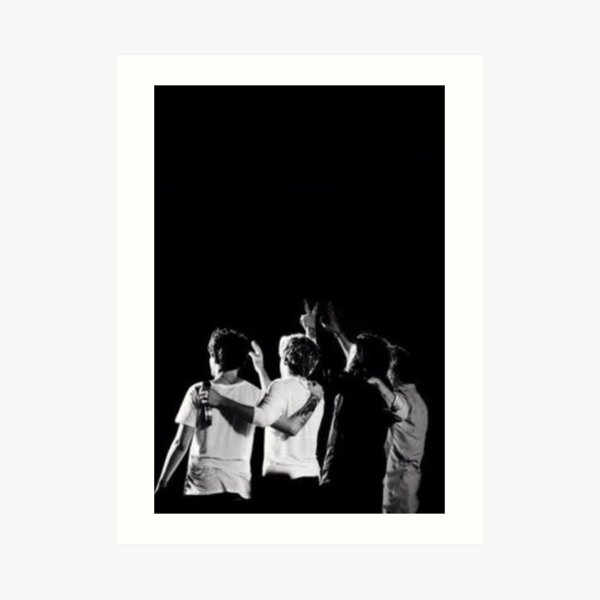 One Direction en blanco y negro Lámina artística