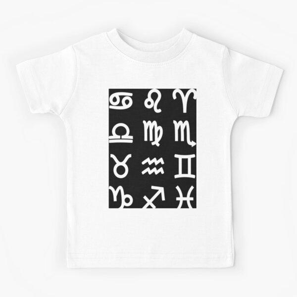 Zodiac Symbols - Astrology, Astronomy Kids T-Shirt