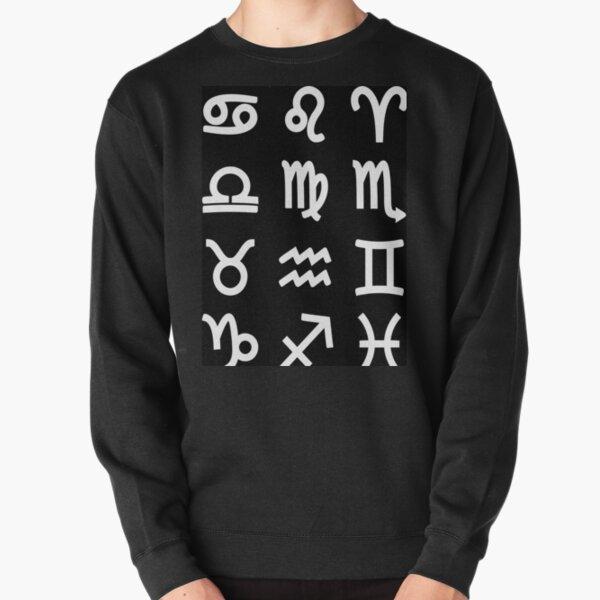 Zodiac Symbols - Astrology, Astronomy Pullover Sweatshirt