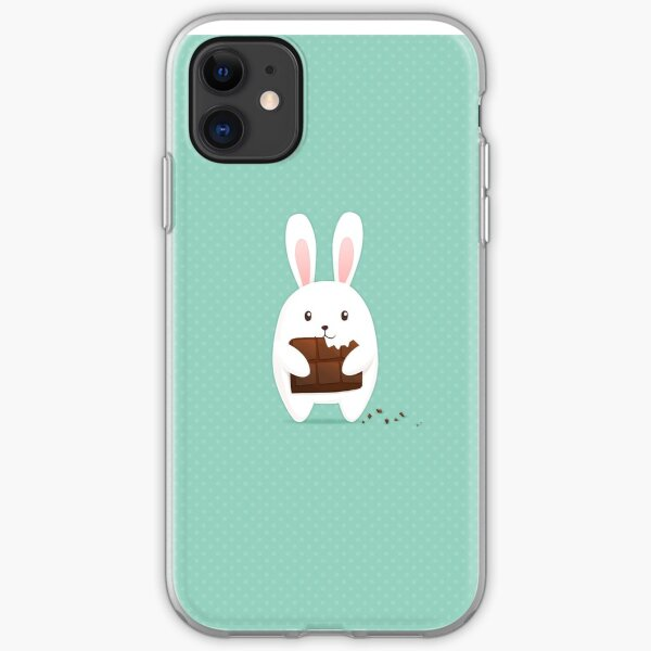 Bunny with chocolate iPhone Soft Case
