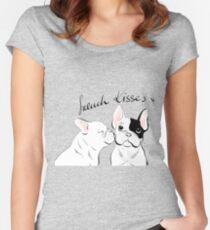 Französische Küsse Tailliertes Rundhals-Shirt