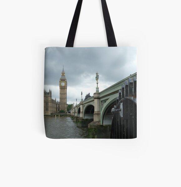 Big Ben across the Thames All Over Print Tote Bag