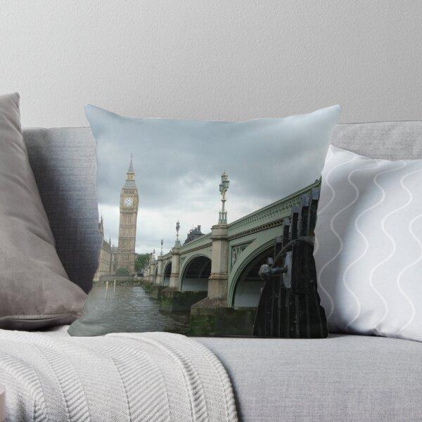 Big Ben across the Thames Throw Pillow