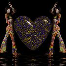 Fine Art Pinups 18  Double Down On Love & Peace by Sazzart
