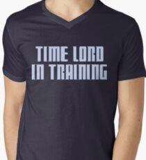 Time Lord in Training Mens V-Neck T-Shirt