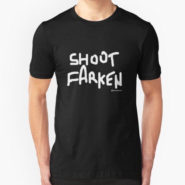 Shoot Farken White Logo Slim Fit T-Shirt