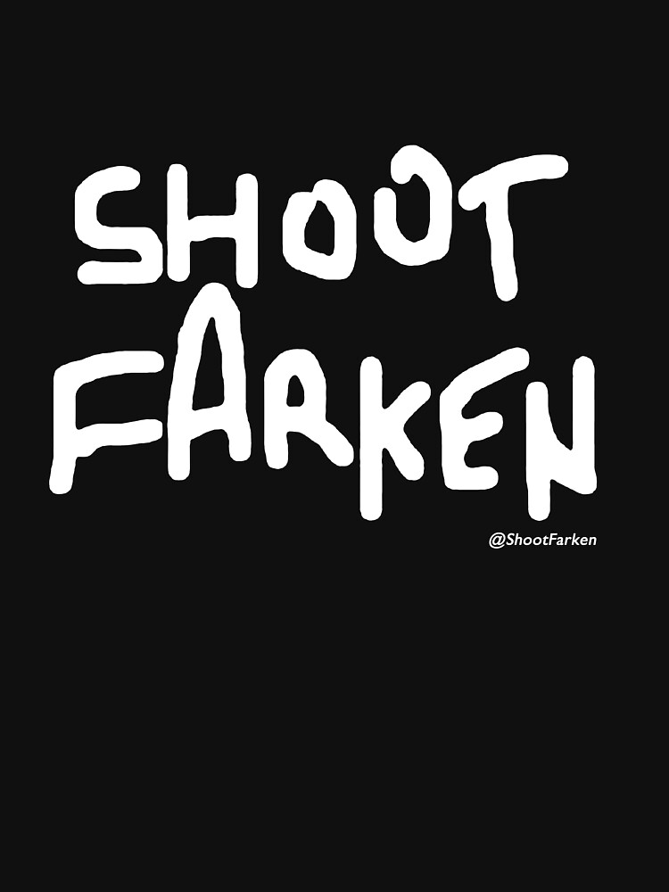 Shoot Farken White Logo | Unisex T-Shirt