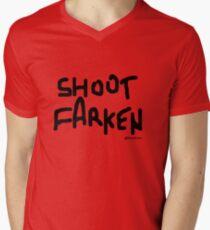 Shoot Farken Black Logo Men's V-Neck T-Shirt
