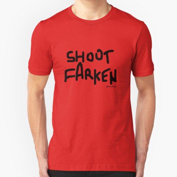 Shoot Farken Black Logo Slim Fit T-Shirt