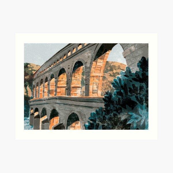 Pont du Gard France Art Print