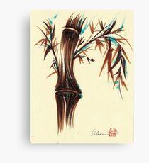 REFLECT -  Sumi-e ink brush pen Zen bamboo painting Canvas Print