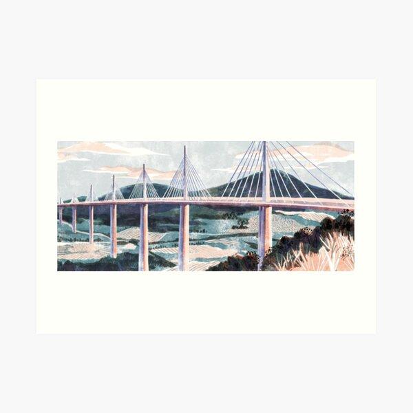 Viaduc de Millau France Art Print